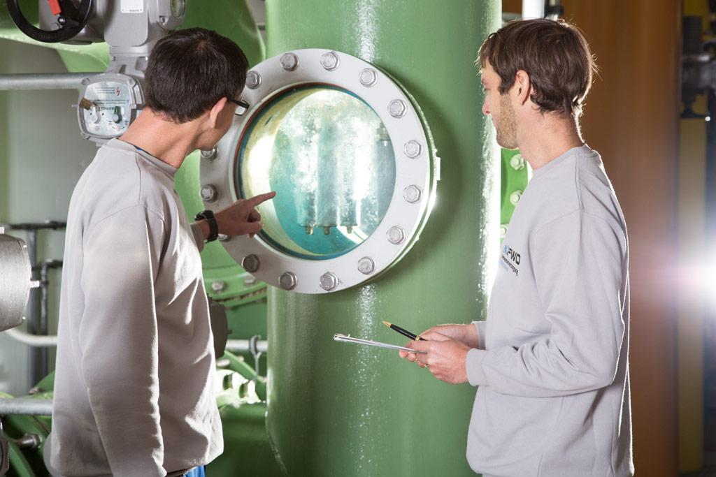 Fernwasserversorgung Oberfranken Besucherführungen Wasserwerk Führung Schulklassen Gruppenausflug Wasseraufbereitung