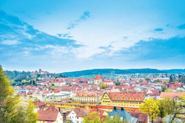 Kronach Stadt Panorama Fernwasserversorgung Oberfranken